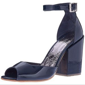 Rachel Comey Coppa Patent Leather Sandal Blue NWB